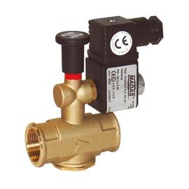 Elettrovalvola gas normalmente aperta 3/4 0,5 bar