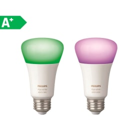 2 lampadine smart LED Philips Hue E27 =60W goccia multicolore (RGB) 220°