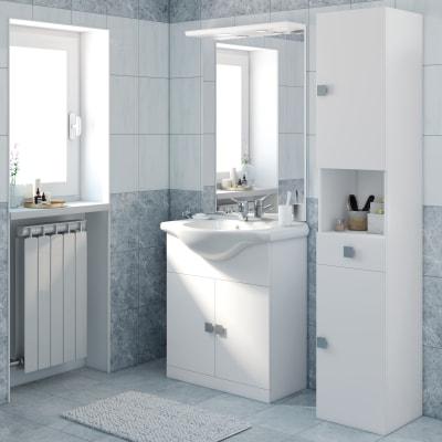 Mobile bagno super bianco l 75 cm prezzi e offerte online for Mobili bagno offerte on line