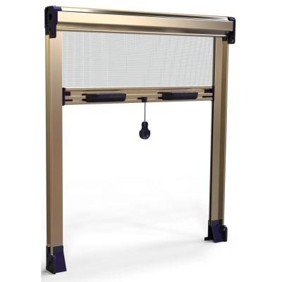 Zanzariera in kit avvolgibile con frizione bronzo l 100 x h 150 cm spessore telaio 45 mm prezzi - Ikea zanzariere per finestre ...
