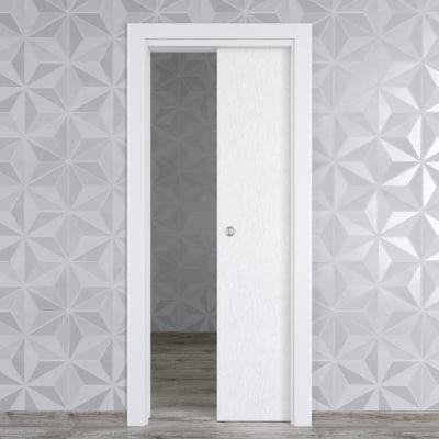 Porta da interno scorrevole hunk cemento calce 80 x h 210 for Leroy merlin porta scorrevole
