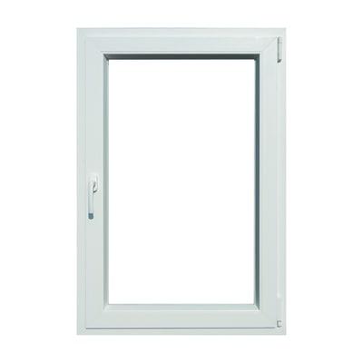 Finestra pvc bianco l 80 x h 120 cm dx prezzi e offerte for Stock finestre pvc