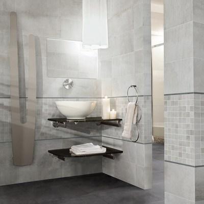Piastrella beton 30 x 60 cm grigio prezzi e offerte online - Bagno ecologico prezzi ...