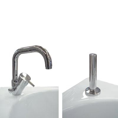 Rubinetteria bordo vasca cromo prezzi e offerte online leroy merlin - Bordo vasca da bagno ...