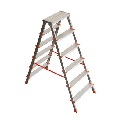 Scala domestica a doppia salita in alluminio 6 gradini for Scale alluminio leroy merlin