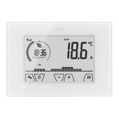 Termostato vimar touch screen da parete bianco 02907 wi fi for Termostato gsm leroy merlin