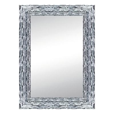 Specchio da parete rettangolare teresa argento 68 x 88 cm - Specchio rettangolare da parete ...