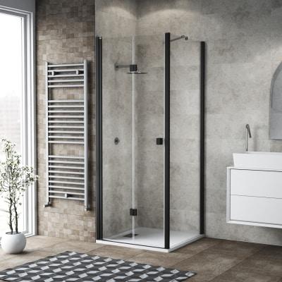 Doccia con porta pieghevole e lato fisso neo 72 76 x 77 for Cabine doccia multifunzione leroy merlin