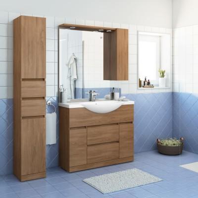 Mobile bagno elise rovere l 100 cm prezzi e offerte online for Mobili bagno prezzi