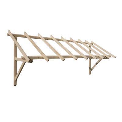 Tettoia in legno helios l 305 x p 100 cm prezzi e offerte for Tettoia legno leroy merlin