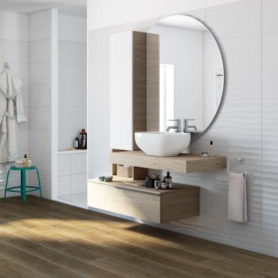 Mobile bagno eklettica olmo l 135 cm prezzi e offerte online leroy merlin - Specchio contenitore bagno leroy merlin ...