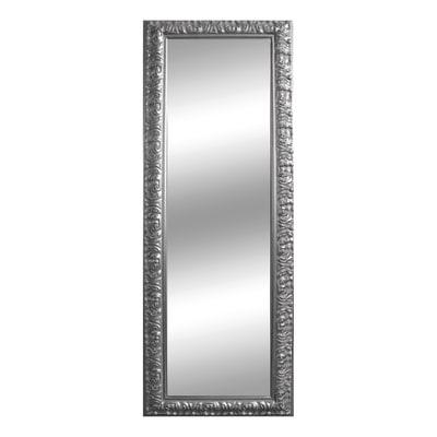 Specchio da parete rettangolare barocco argento 50 x 135 for Specchio da parete argento