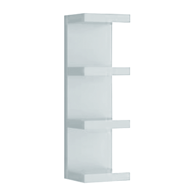 Mensola verticale a pettine spaceo bianco l 25 5 x p 23 7 for Mensole a cubo leroy merlin
