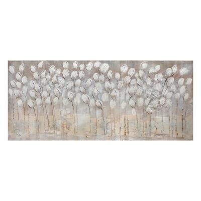 Quadro dipinto a mano tulipani bianchi 65x150 prezzi e for Quadri moderni leroy merlin