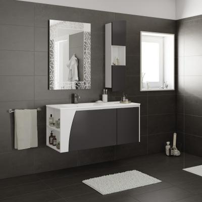 Mobile bagno Soft grigio L 116,5 cm prezzi e offerte online | Leroy ...