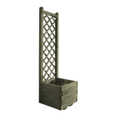 Fioriera con grigliato l 40 x h 40 x p 40 cm prezzi e for Cassette in legno leroy merlin