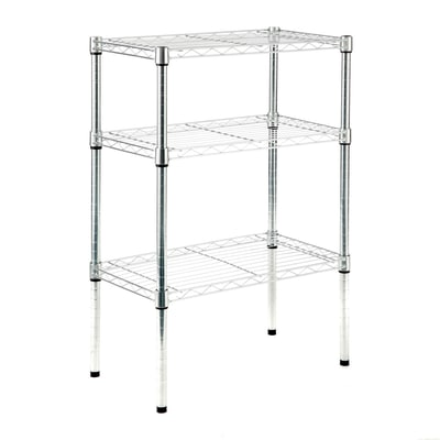 Scaffale in kit spaceo chrome style l 60 x p 35 x h 90 cm for Scatole per armadi leroy merlin