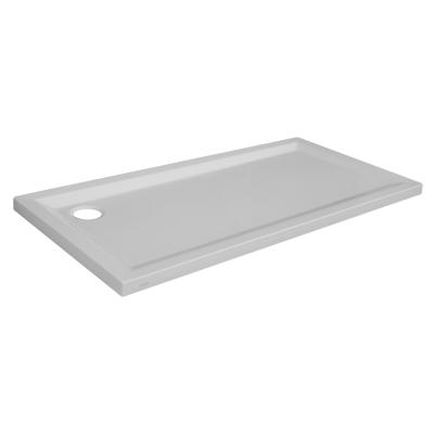 Piatto doccia acrilico houston 80 x 160 cm bianco prezzi e for Piatto doccia 170x70 leroy merlin