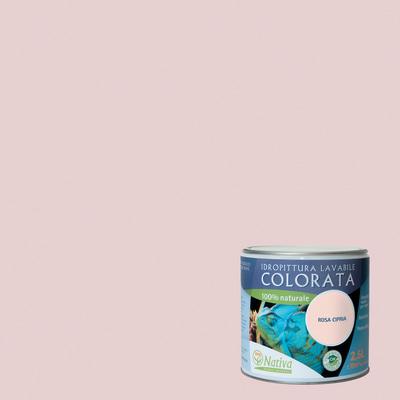 Idropittura lavabile bio rosa cipria 2 5 l nativa prezzi e for Pittura lavabile prezzi leroy merlin