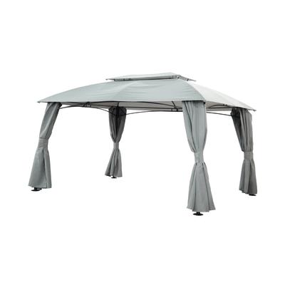 Gazebo anacapri copertura grigia 3 x 4 m prezzi e offerte for Gazebo per auto leroy merlin