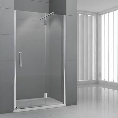 Porta doccia battente modulo 138 141 h 195 cm cristallo 6 for Cabine doccia prezzi leroy merlin