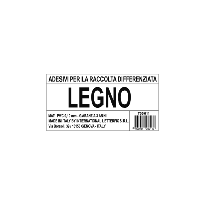Cartello segnaletico raccolta diff legno vinile 12 x 6 cm for Piastrelle vinile leroy merlin