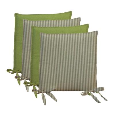 Cuscino per sedia Riga verde 40x40 cm