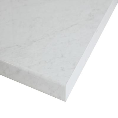 Piano cucina su misura in laminato Marmo Apuano bianco , spessore 6 cm