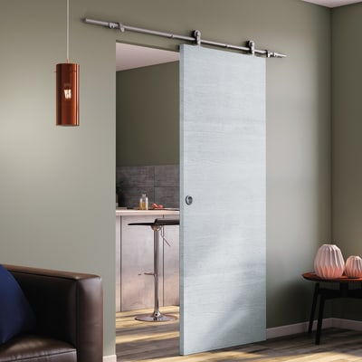 porta scorrevole con binario esterno renoir in legno