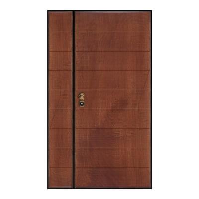 Porta blindata Big 2 ante noce L 120 x H 210 cm destra