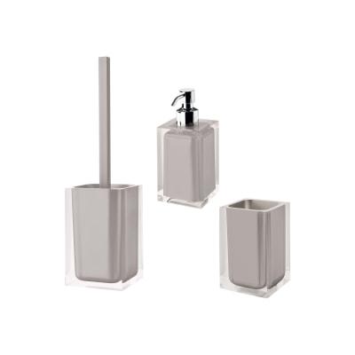 Accessori Bagno In Resina.Set Di Accessori Per Bagno Rainbow Tortora In Resina 3 Pezzi Prezzo Online Leroy Merlin