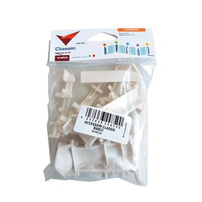 Kit accessori per battiscopa in pvc 10 pezzi prezzi e for Canalina battiscopa leroy merlin
