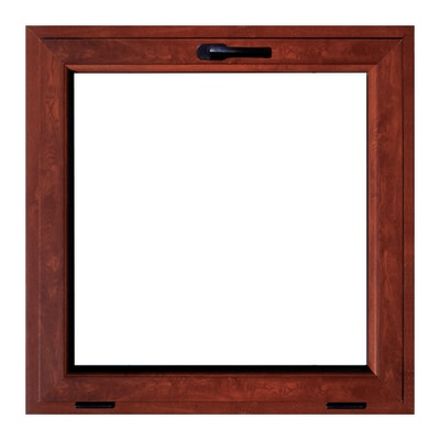Finestra in pvc rovere l 50 x h 50 cm prezzi e offerte for Stock finestre pvc