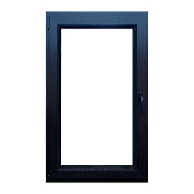 Finestra in pvc noce scuro l 60 x h 100 cm prezzi e for Stock finestre pvc
