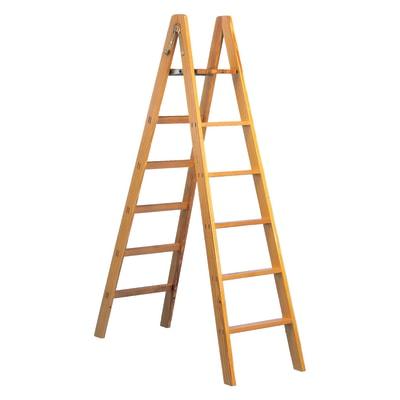Scala doppia facal pittore in legno per lavori fino a 4 m for Scala in legno leroy merlin
