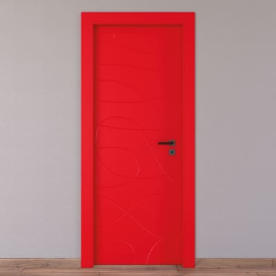 Porta da interno battente Wind red rosso 60 x H 210 cm sx
