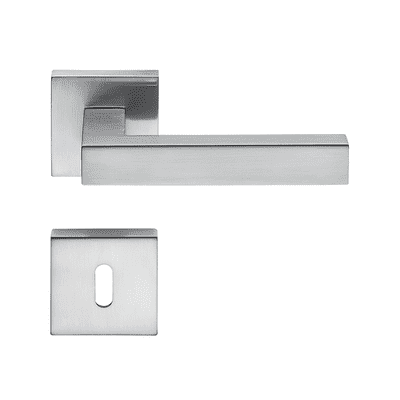 Maniglia per porta con rosetta e bocchetta LEDA in zama