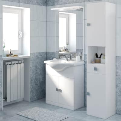 Mobile bagno Super bianco L 75 cm prezzi e offerte online   Leroy Merlin