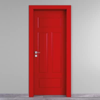 Porta da interno battente Coconut Groove rosso 70 x H 210 cm dx