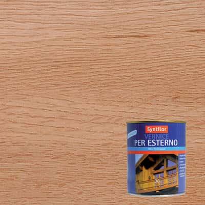 Vernice per esterno ad acqua Syntilor rovere chiaro satinato 0,25 L