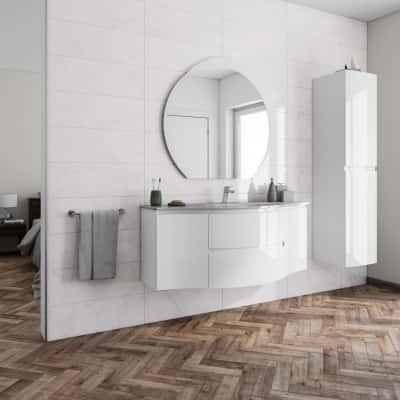 Mobile bagno Vague bianco L 138 cm