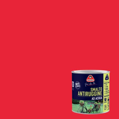 Smalto per ferro antiruggine rosso satinato 2 L