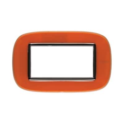 Placca 4 moduli BTicino Axolute arancio liquid