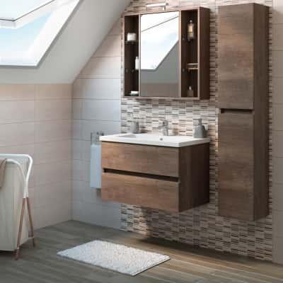 Mobile bagno kora rovere l 81 cm prezzi e offerte online leroy merlin - Leroy merlin mobile bagno ...