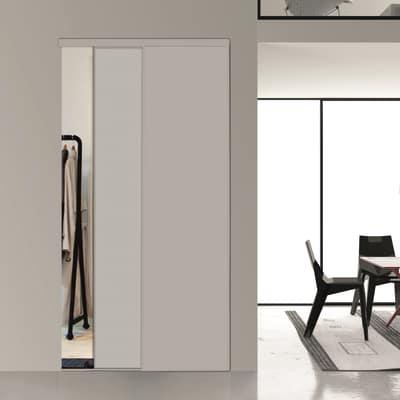 Kit 2 ante toledo laminato bianco l 120 x h 270 cm prezzi for Ante scorrevoli per armadi a muro leroy merlin