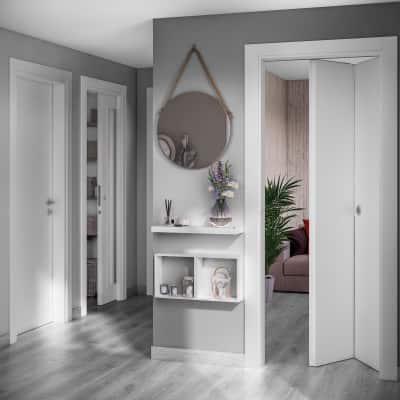 Porta da interno battente Moma bianco 80 x H 210 cm dx