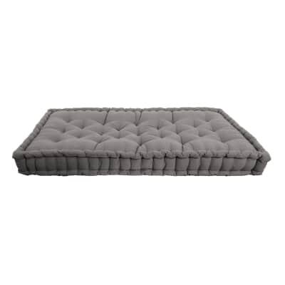 Cuscino da seduta per divano pallet Santorin grigio 120 x 80 cm