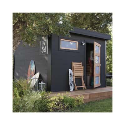 casetta in legno grezzo Evan 8,18 m², spessore 28 mm