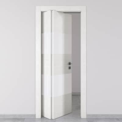 Porta da interno pieghevole asimmetrica Melangè bianco 70 x H 210 cm sx