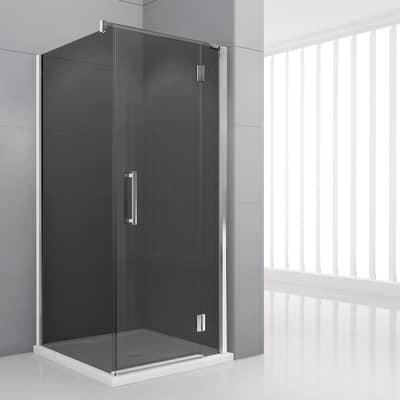 Porta doccia battente Modulo 116.5-119,5, H 195 cm cristallo 6 mm fumè/cromo